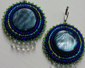 Abalone tear earrings