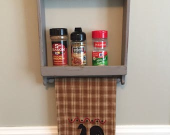 Spice rack, kitchen decor, farmhouse, kitchen storage