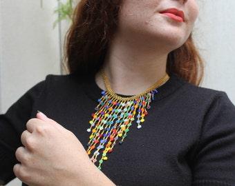 BERE CORITA necklace handmade by Mexican Huichol ethnic artisans =)