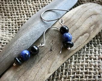 EMF Earrings w/Shungite Beads & Sodalite