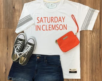 Saturday in College Town Game Day T-Shirt, College Football Tee, High School Football T-shirt, Custom Sports T-shirt, Game Day Tee