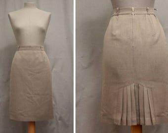 1970's Grey High Waisted - Skirt Size M