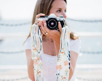 Floral Camera Strap- Nikon Camera Strap- Camera Strap- Scarf Camera Strap- Crossbody Camera Strap- Birthday Gift for Her-  DSLR Camera Strap