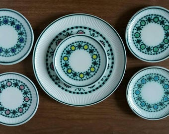 Royal Goedewaagen, cake couple, cake set, Goedewaagen Holland, mid century cake set, Christmas gift, mid century gift, ceramics rare