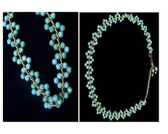 Vintage southwestern belt-turquoise beads boho-1980's ladies belt