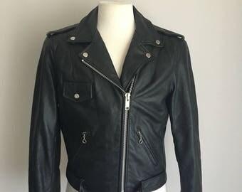 Rad Vintage Leather Berman's Motorcycle Biker Jacket 90s Grunge L