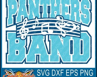 Panthers Band| Music Notes| SVG| DXF| EPS| Png| Cut File| Panthers| Band| Mom| Dad| Vector| Silhouette| Cricut| Digital Download