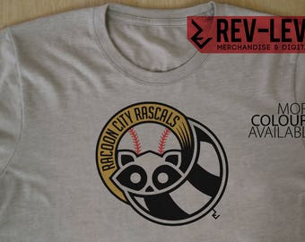 Resident Evil 'Racoon City Rascals' Baseball Team T-Shirt - Video Game Sports Team - Capcom Biohazard Shirt by Rev-Level