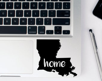 Louisiana Home State Decal - Custom Size and Color LA Home Sticker - Lousiana sticker for Laptop  - Louisiana Vinyl Car Decal