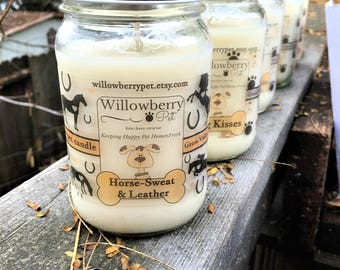 Horse Candle, Horse Sweat, Leather Candle, Horse Gifts For Women, Equine Candle, Equine gifts, Equestrian gifts, Horse Girl, Soy Candle
