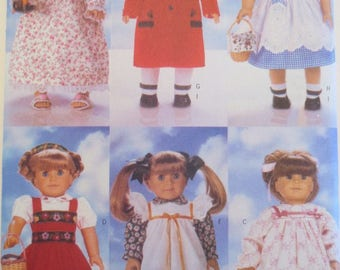 """Uncut Vintage 18"""" Doll Clothes Pattern - Butterick 4699 - 6 Different Outfits in ONE Sewing Pattern for 18"""" Dolls"""