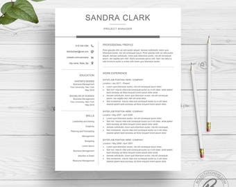 Modern Resume Template For Word | Clean Resume Design | Two Page Resume  Download | Simple
