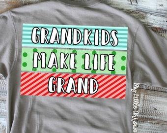 Grandkids make life grand svg | grandma svg | grandparents day svg | papa dxf | grandpa svg | grandparents gift svg