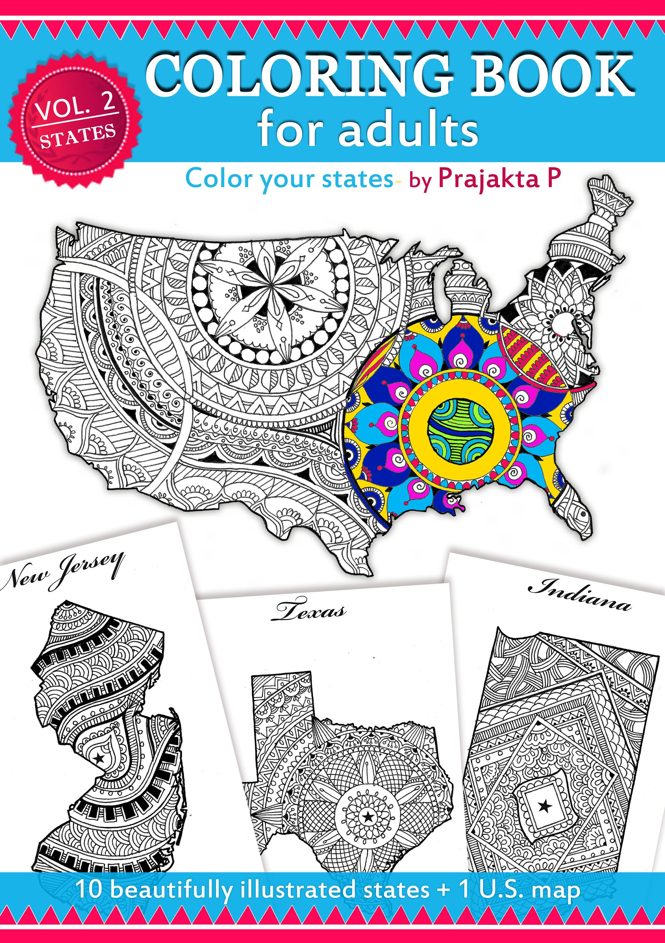 Adult coloring book printable coloring book 4 th of July