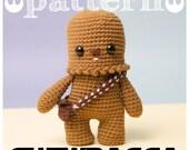 PATRON CHEWBACCA Star Wars - Guerra de las galaxias - chewie wookiee (patron en Español - English)