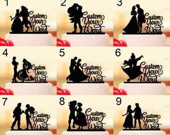 Wedding Cake Topper,Custom Cake Topper,Wedding Cake Decoration,Disney Cake Topper,Funny Cake Topper,Bride And Groom Cake Topper C238