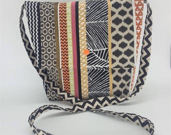 Ethnic bag with shoulder strap