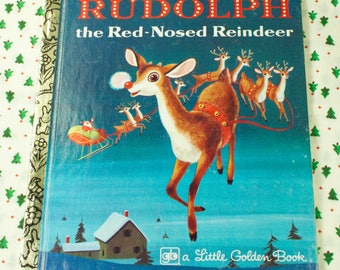 1979 Rudolph The Red-Nosed Reindeer Little Golden Book