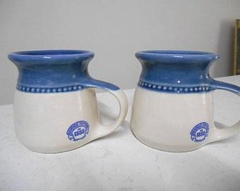 Bendigo Pottery Australia - Set of Two Pottery Coffee Mugs