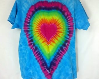 Kids Heart t-shirt, Child Tie Dye T-Shirt, Kids tie dye, Rainbow tie dye, Rainbow t-shirt, Rainbow Heart, Tie dye kids, Aged 5-6 Years