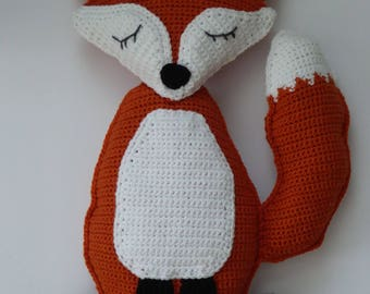Fox Rag Doll, Amigurumi Fox, Crochet Fox, Rag Doll Amigurumi Fox, Rag Doll Fox, Rag Doll Fox Plush, Fox Doll, Fox Pillow, Nursery Decor