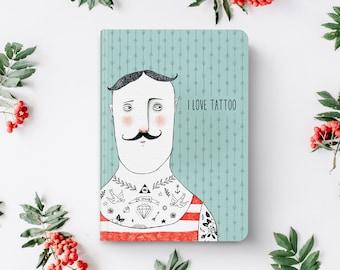 Notebook | Pocket Notebook | Gift | Notepad | Sketch | Drawing | Journal | Planner | Man | Tattoo | Hipster