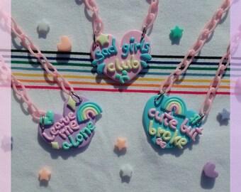 Current Mood necklaces fairy kei pop kei tumblr