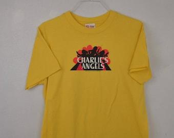 Charlie's Angels Yellow tee shirt // t shirt