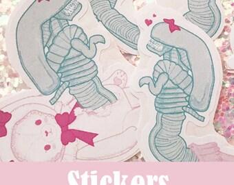 Sweet Alien Stickers