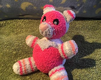Pink and Gray Teddy Bear