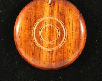 African Padauk pendant