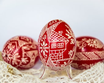 Set of Three Easter Eggs, Pysanky Eggs, Pysanky, Easter Decor, Easter Decorations, Decorative Eggs, Hand Painted Egg, Easteregg Hunt, Easter