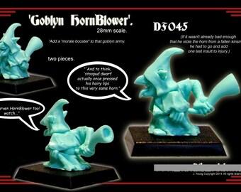 28mm Scale, Night Goblin 'Musician'. Warhammer. Tabletop Gaming. Dungeons & Dragons. Pathfinder. RPG