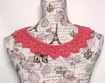 Crochet Pointed Edge Collar