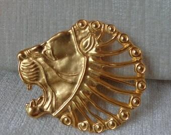 Vintage MMA Lion Head Brooch, Pendant combo, Persian Roaring Lion
