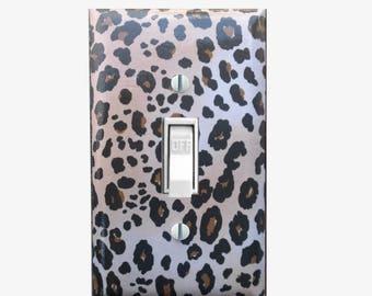 Animal print decor - Leopard print light switch cover - Leopard bedroom decor