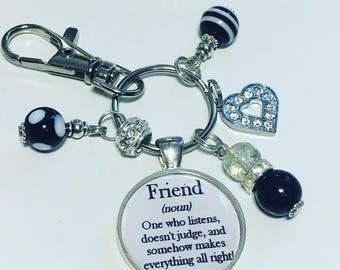 Friendship keyring, Friendship keychain, Friends gift, friend xmas gift, friend christmas gift