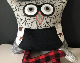 Decorative kid pillow owl cushion stuffed animal