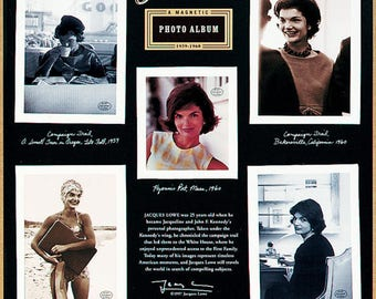 JACKIE KENNEDY ONASSIS Photo Album Magnet Set Retired 1996 Presidential FIrst Lady White House  Jacques Lowe