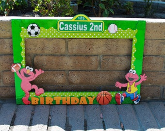 Sesame Street Photo Frame // Photo booth