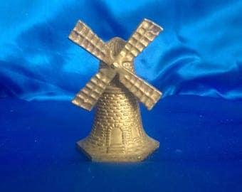 Vintage Dutch Brass Windmill