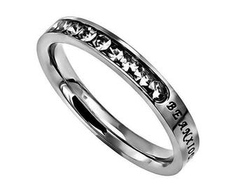 """Princess Ring """"Be Anxious For Nothing"""""""