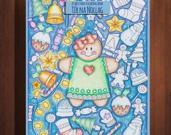 Christmas Coloring Festive Book Tir Na Nollag