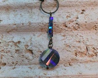 Violet Crystal Drop Necklace