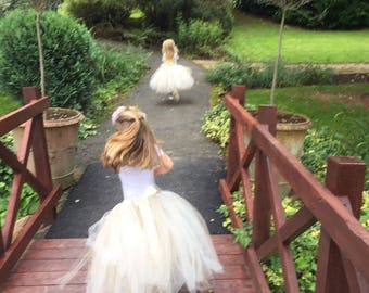 Long tutu, full length tutu, tutu skirt, flower girl tutu, tulle skirt, bridesmaid dress, baby tutu, tulle tutu, flower girl dress