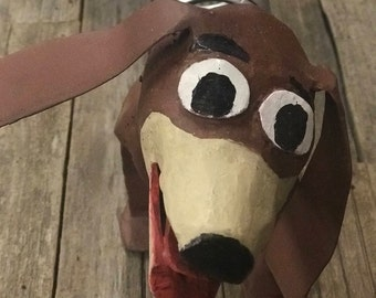 """Handmade """"Slinky Dog"""" One of a Kind, Made from Reclaimed Materials"""