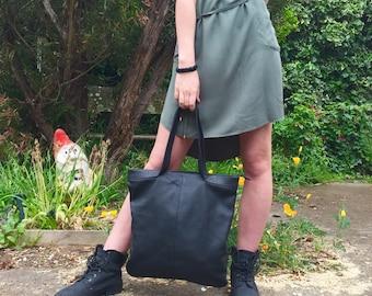 Leather Bag, Black Leather Bag, Slouch Bag, Shoulder Bag, Hand Bag, Cow Leather Bag called Brianna Black