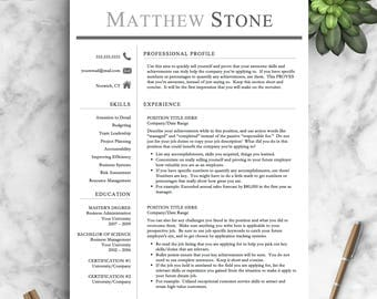 professional resume template for word pages one two and three page resume template - Professional Cv Template
