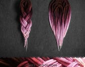 Wool dreadlocks  |  hand-dyed from brown to pink  |  CHOOSE AMOUNT  |  woolies