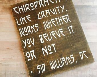 Chiropractic, Like Gravity